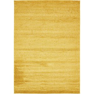 10x13 Yellow Solid Frieze  Rugs!