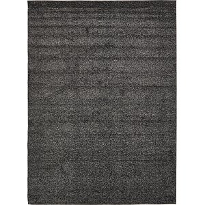 9x12 Black Solid Frieze  Rugs
