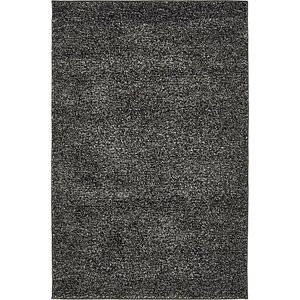 4×6 Black Solid Frieze  Rugs
