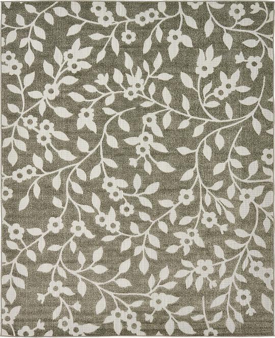 Brown 8 39 x 10 39 transitional indoor outdoor rug area rugs for Indoor outdoor rugs uk