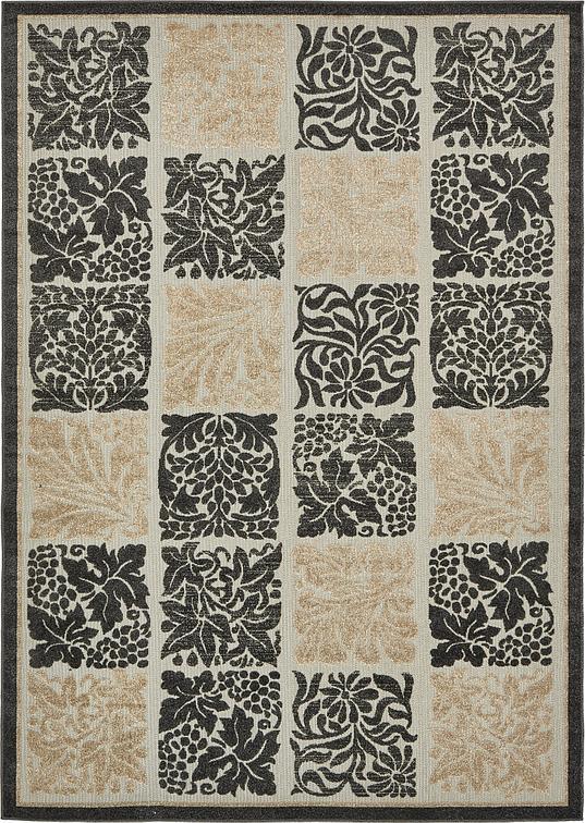 Black 7 39 x 10 39 transitional indoor outdoor rug area rugs for Indoor outdoor rugs uk