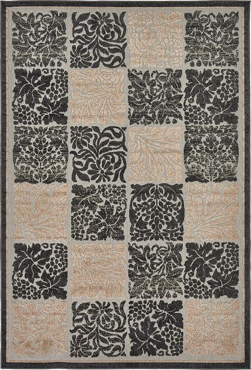 Black 6 39 x 9 39 transitional indoor outdoor rug area rugs for Indoor outdoor rugs uk
