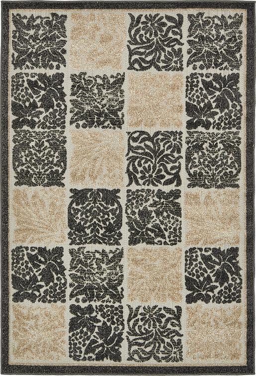 black 4 39 x 6 39 transitional indoor outdoor rug area rugs. Black Bedroom Furniture Sets. Home Design Ideas