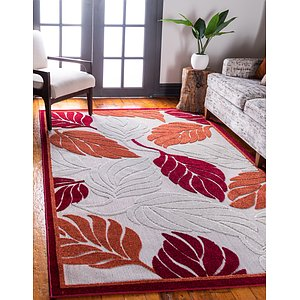5' x 8' Outdoor Botanical Rug