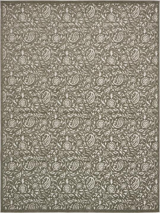 Gray 9 39 x 12 39 transitional indoor outdoor rug area rugs for Indoor outdoor rugs uk