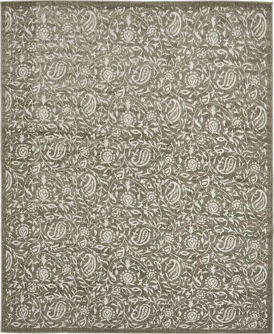 Gray 8 39 x 10 39 transitional indoor outdoor rug area rugs for Indoor outdoor rugs uk