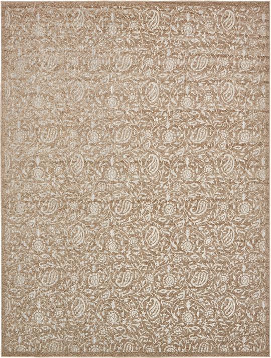 Beige 9 39 x 12 39 transitional indoor outdoor rug area rugs for Indoor outdoor rugs uk