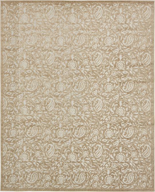 Beige 8 39 x 10 39 transitional indoor outdoor rug area rugs for Indoor outdoor rugs uk