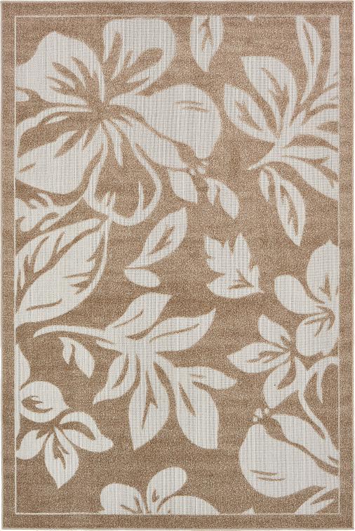 Beige 6 39 x 9 39 transitional indoor outdoor rug area rugs for Indoor outdoor rugs uk