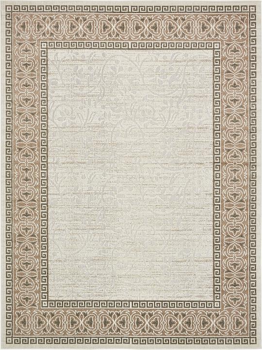 Cream 9 39 x 12 39 transitional indoor outdoor rug area rugs for Indoor outdoor rugs uk