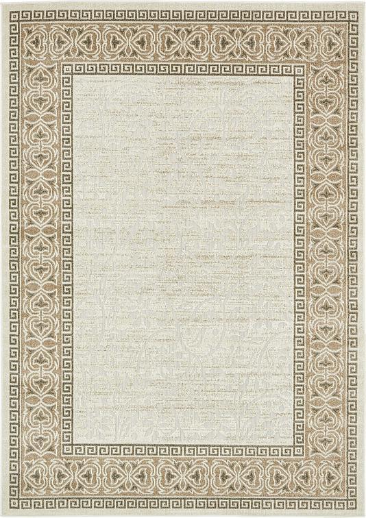 Cream 7 39 x 10 39 transitional indoor outdoor rug area rugs for Indoor outdoor rugs uk