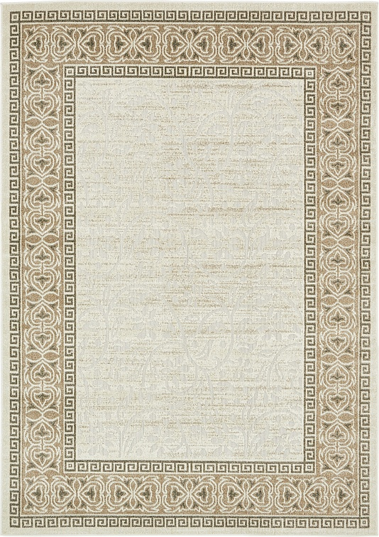 Cream 7 39 X 10 39 Transitional Indoor Outdoor Rug Area Rugs IRugs UK