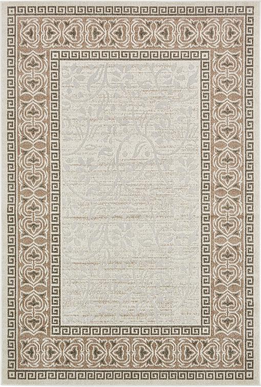 cream 6 39 x 9 39 transitional indoor outdoor rug area rugs. Black Bedroom Furniture Sets. Home Design Ideas