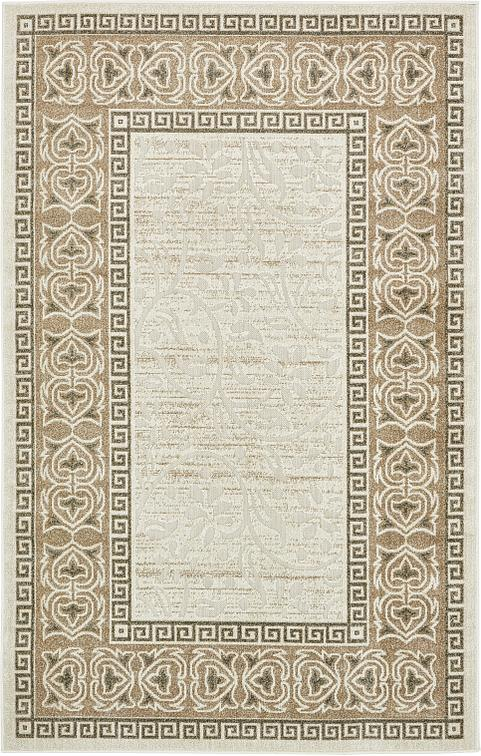 cream 5 39 x 8 39 transitional indoor outdoor rug area rugs. Black Bedroom Furniture Sets. Home Design Ideas