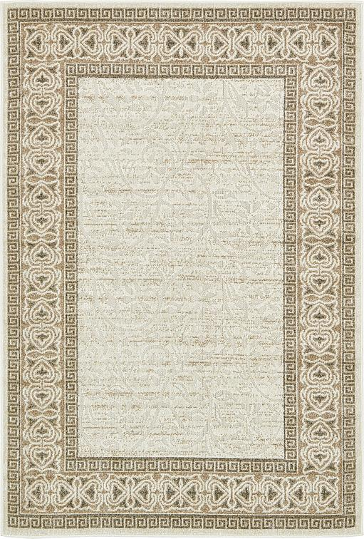 Cream 4 39 X 6 39 Transitional Indoor Outdoor Rug Area Rugs IRugs UK