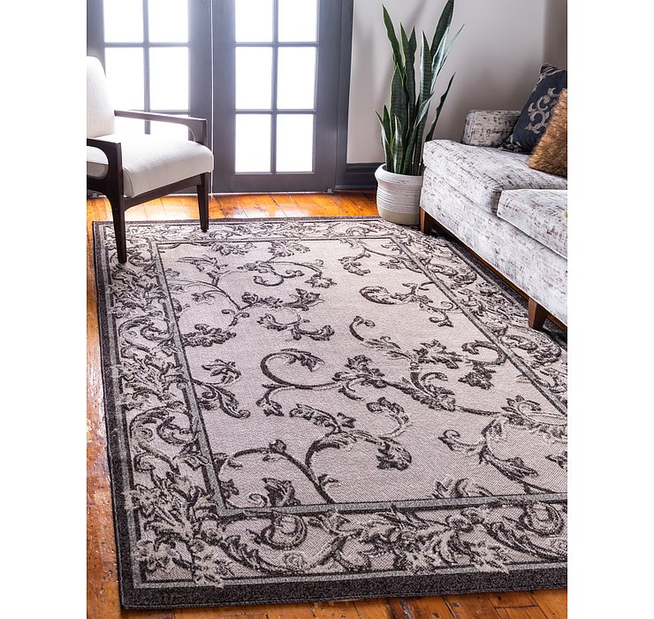 8' x 10' Outdoor Botanical Rug