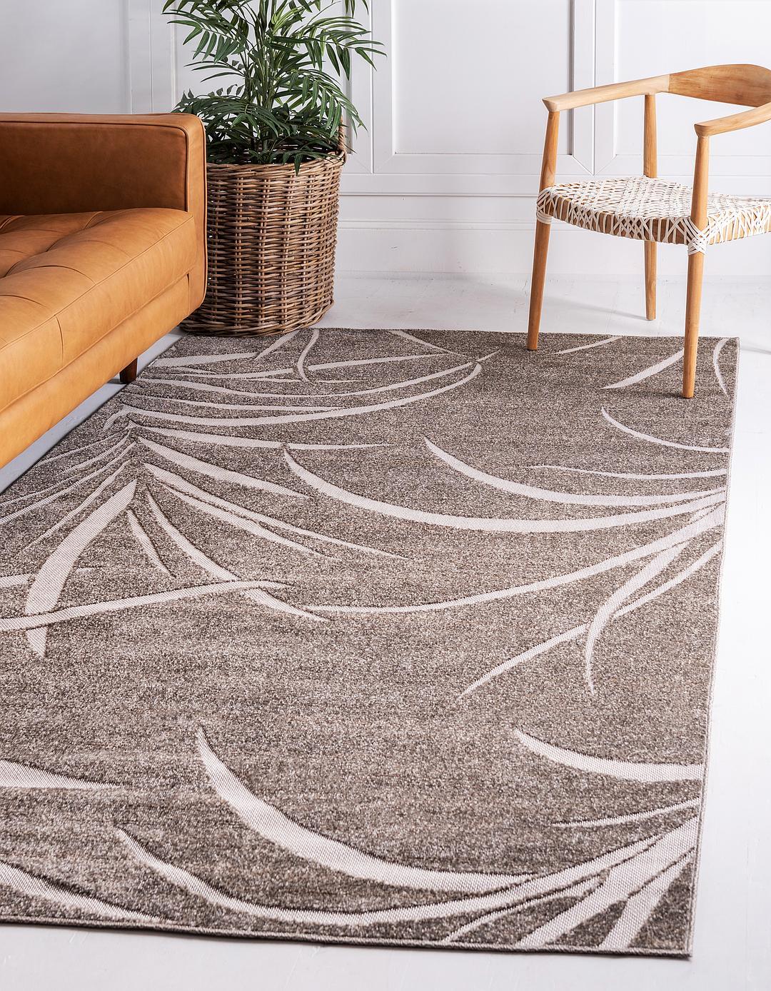 brown 6 39 x 9 39 outdoor botanical rug area rugs. Black Bedroom Furniture Sets. Home Design Ideas