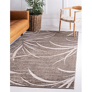 Unique Loom 5' x 8' Outdoor Botanical Rug