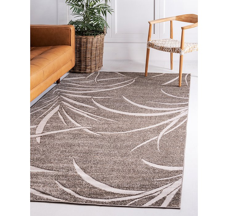 Brown Outdoor Botanical Rug