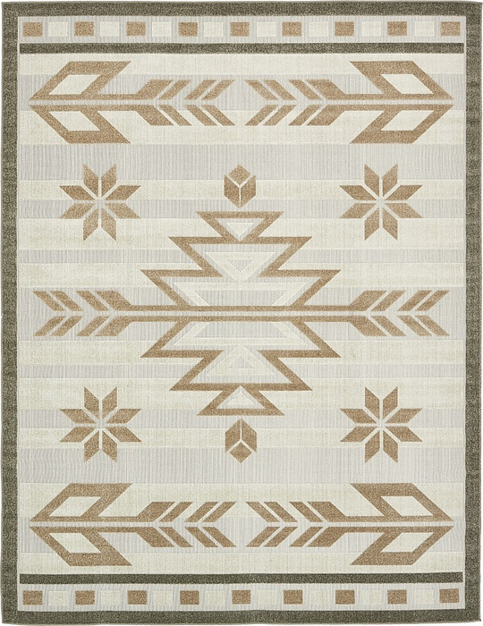 Beige 9 39 X 12 39 Transitional Indoor Outdoor Rug Area Rugs IRugs UK