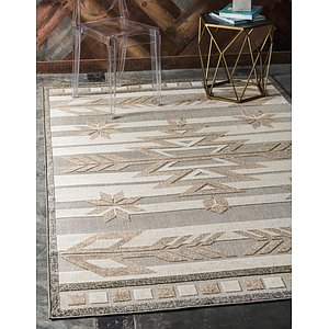 Unique Loom 9' x 12' Outdoor Modern Rug