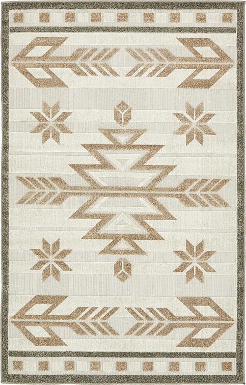 Beige 5 39 x 8 39 transitional indoor outdoor rug area rugs for Indoor outdoor rugs uk