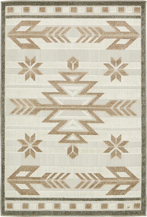 Beige 4 39 x 6 39 transitional indoor outdoor rug area rugs for Indoor outdoor rugs uk