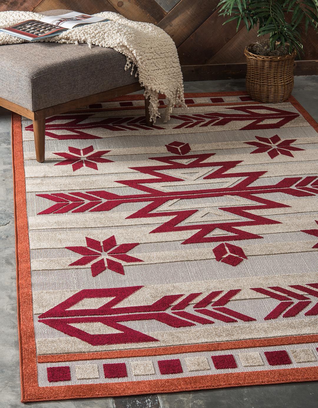 Burgundy 7 X 10 Outdoor Modern Rug Area Rugs Rugs Ca