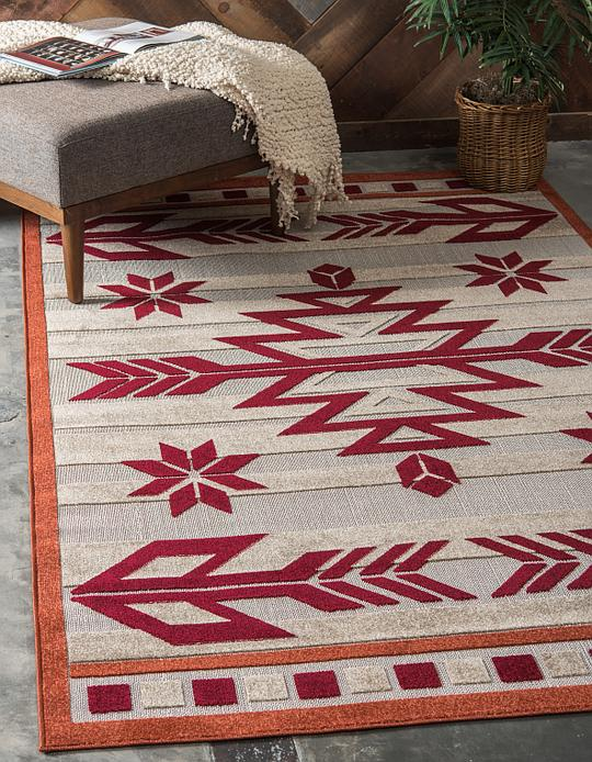 Burgundy 9 X 12 Outdoor Modern Rug Area Rugs Irugs Uk