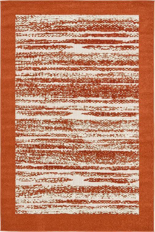Terracotta 6 39 x 9 39 transitional indoor outdoor rug area for Indoor outdoor rugs uk