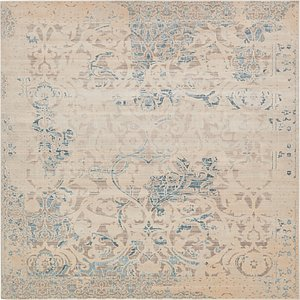 All Squares Beige & Ivory Restoration  Rugs