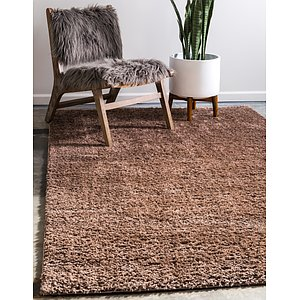 Unique Loom 5' x 8' Studio Solid Shag Rug