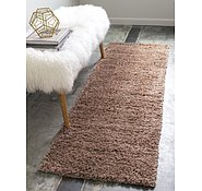 Link to Unique Loom 2' x 6' 7 Studio Solid Shag Runner Rug