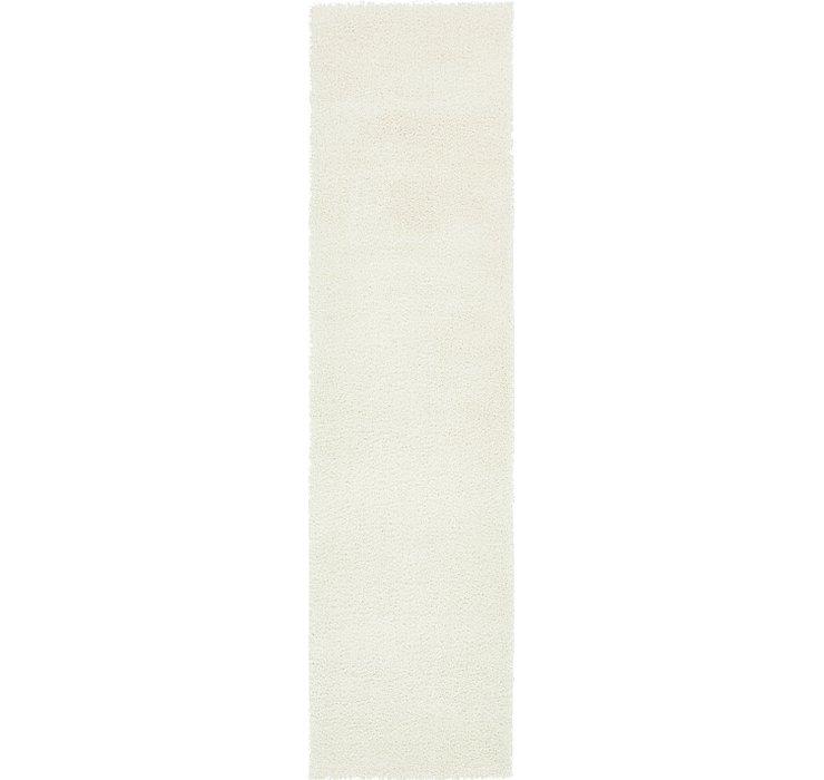 2' 7 x 10' Solid Shag Runner Rug