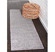 Link to 2' x 6' 7 Solid Shag Runner Rug
