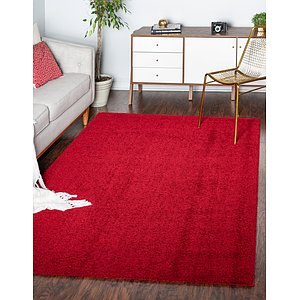 Unique Loom 4' x 6' Studio Solid Shag Rug