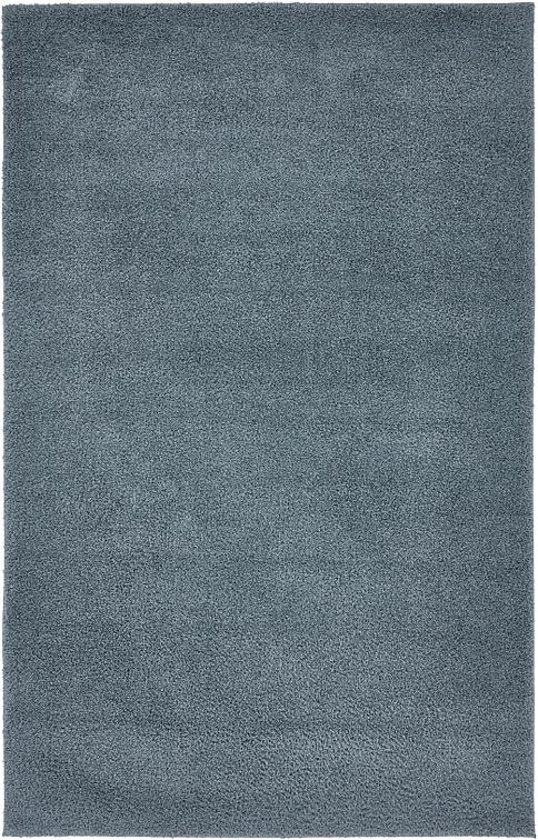 Slate Blue 5 X 8 Solid Shag Rug Area Rugs Esalerugs