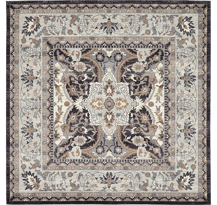 Charcoal Legacy Square Rug