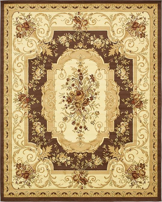 Aubusson Rugs Macys: Brown 8' X 10' Classic Aubusson Rug