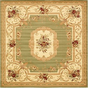 Unique Loom 10' x 10' Versailles Square Rug