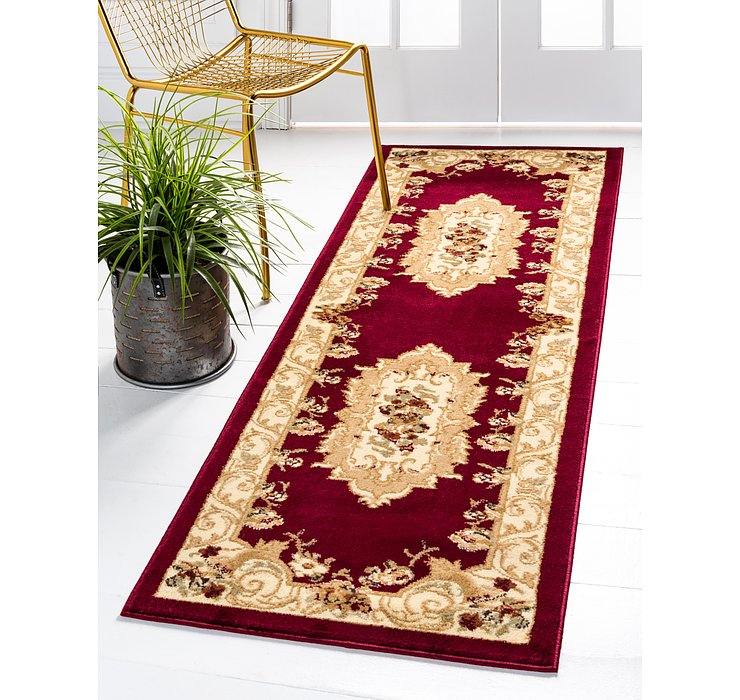 Red Chateau Runner Rug