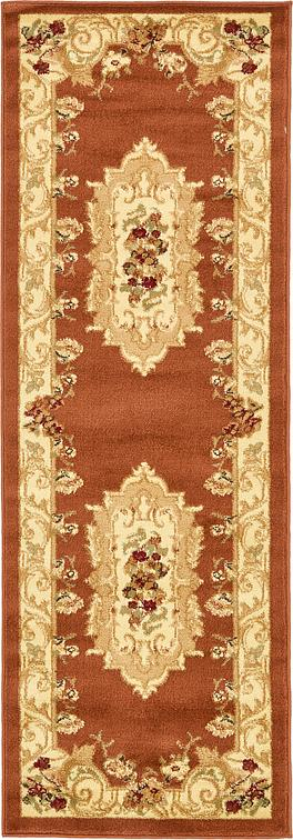 Brick Red 2 2 X 6 Classic Aubusson Runner Rug Area
