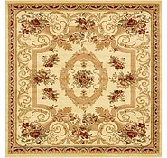 Link to 183cm x 183cm Classic Aubusson Square Rug