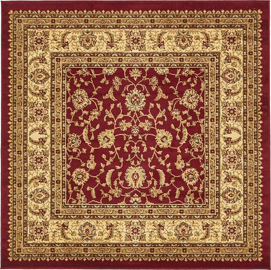 Red 183cm X 183cm Classic Agra Square Rug