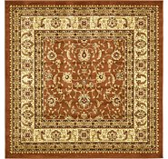 Link to 6' x 6' Classic Agra Square Rug