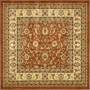 6' x 6' Classic Agra Square Rug