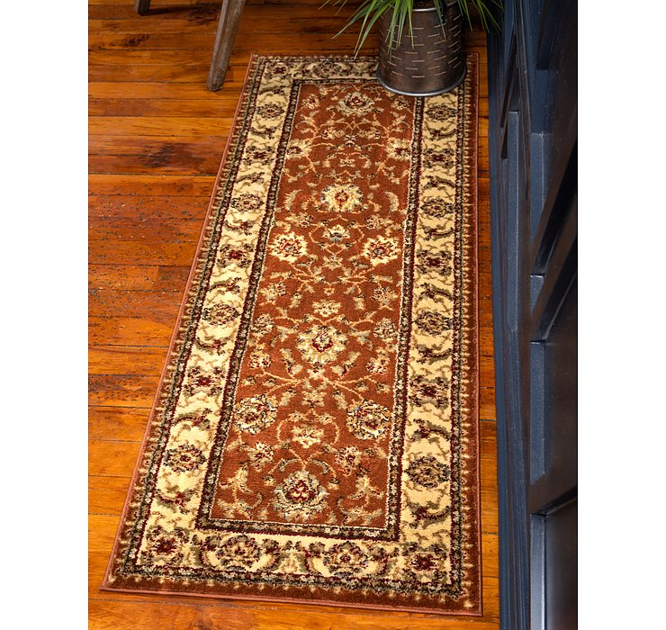 Brick Red Aditi Runner Rug