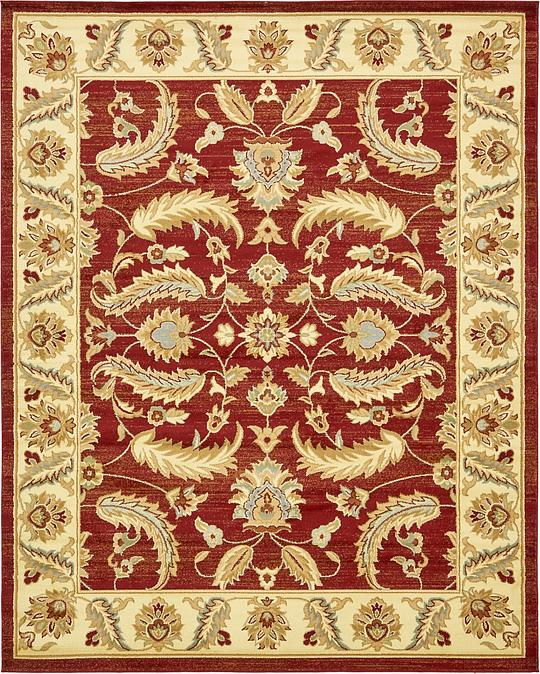 Red 8' X 10' Classic Agra Rug
