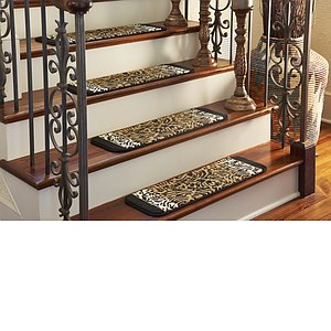 Unique Loom 0' 9 x 2' 6 Wildlife Stair Tread Rug