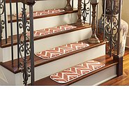 Link to 0' 9 x 2' 6 Chevron Stair Tread Rug